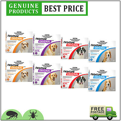 FRONTLINE ORIGINAL for Dogs 8 Doses All Sizes Flea and Tick Treatment by Merial