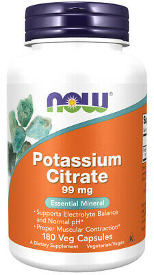 Now Foods, Potassium Citrate, Essential Mineral, 99mg, 180 Veg. Kapseln