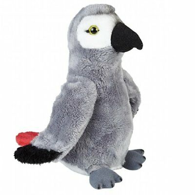 19cm African Grey Parrot Cuddly Soft Toy - Gift - Suitable For All Ages (0+)