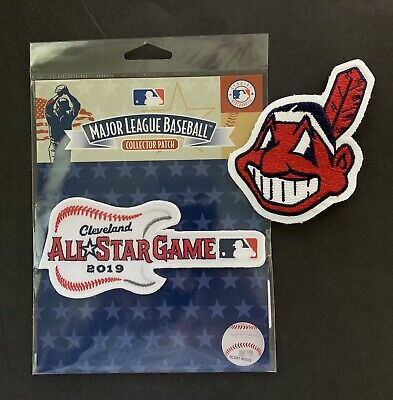 2019 All Star Mlb Official Mlb Patch + Cleveland Indians Chief Wahoo Patch