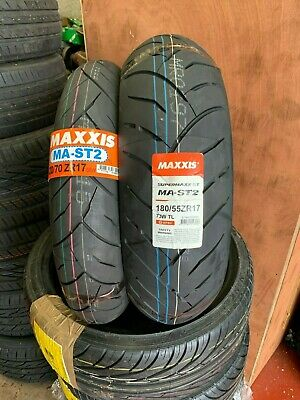 120/70-ZR17 & 180/55-ZR17 Maxxis SUPERMAXX MA-ST2 MOTORCYCLE TYRES MATCHED PAIR