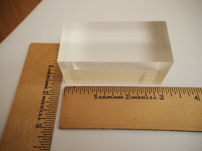 "Plastic scintillator rectangular blocks 1 1/4"" x 1 1/4"" x 3"" radiation detector"