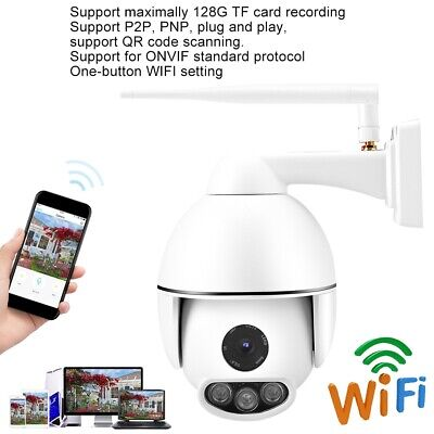 Telecamera IP Camera HD 2MP 1080P Wifi Wireless IR PTZ Motorizzata 16X Zoom IP66