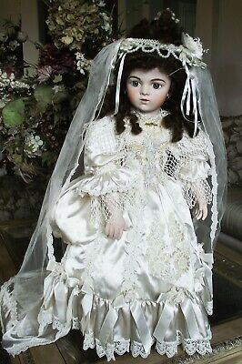 ANTIQUE REPRODUCTION 28 in BRU JNE 15 VICTORIAN BRIDE DOLL PATRICIA LOVELESS
