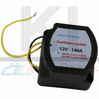 12V Smart Dual Battery Isolator Voltage Sensitive Relay 140 AMP (VSR) Pro NEW