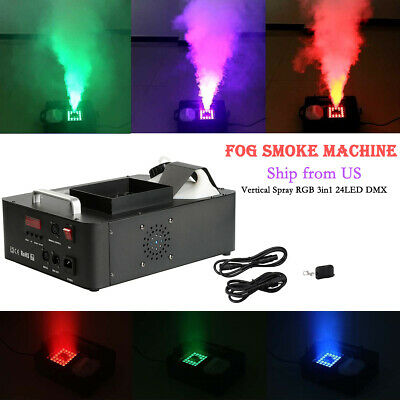 Fog Smoke Machine 3in1 Fogger Stage Effect Equipment w/Remote DJ Show Concert US