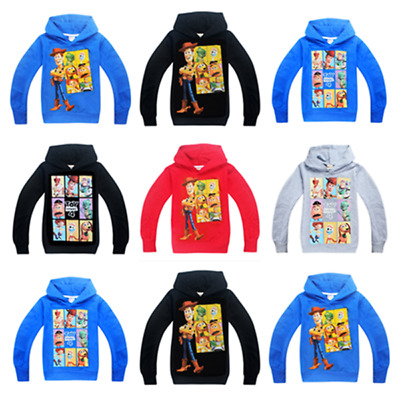 New Toy Story 4 Kids Boys/Girls Hoodies Sweatshirts Casual Clothes Tops Gift UK