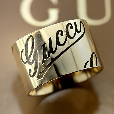 6d692d9b2 GUCCI ICON 18K Yellow Gold Band ring YBC0316008 - $474.00 | PicClick