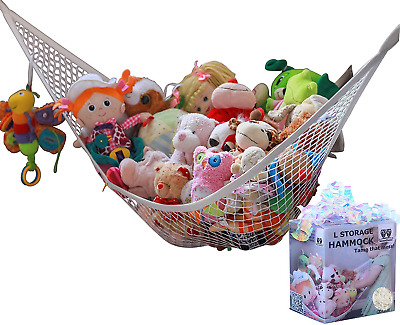 MiniOwls Toy Storage Hammock Large Organizer and De-cluttering Solution for & L