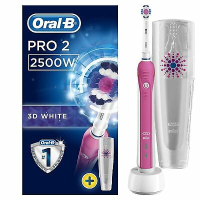 oral b Pro 2 - 2500W 3D Electic T/Brush pink + Travel Case *SPECIAL OFFER*