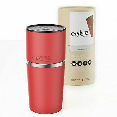 Cafflano Klassic Portable All-in-One Pour Over Coffee Maker (Red) NEW
