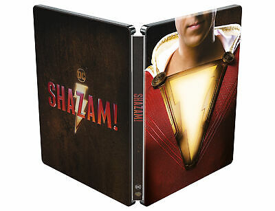 Shazam! (4K Ultra HD Steelbook) Zachary Levi, Mark Strong, Asher Angel