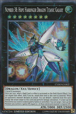 Number 38: Hope Harbinger Dragon Titanic Galaxy CYHO-ENSE2 Super Rare NM Yugioh