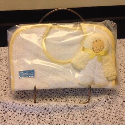 Vintage mid-century 60's Terry cloth baby gift washcloth/doll bib New old stock
