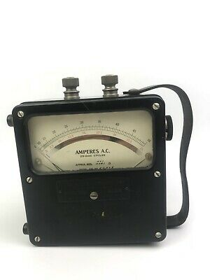 Vintage Weston Electrical Instrument Corp. AMPERES A.C. Meter Model 433 No.65308