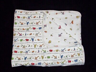 Carters John Lennon White Animal Baby Blanket Real Love Parade Reversible Red