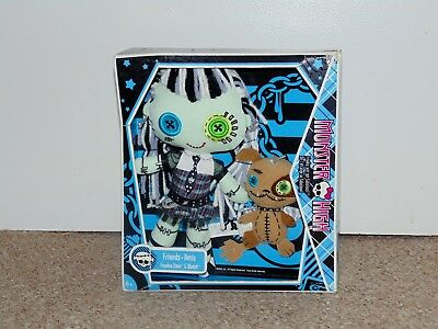 2009 Mattel Monster High Friends Frankie Stein & Watzit Plush Doll Set New MIB