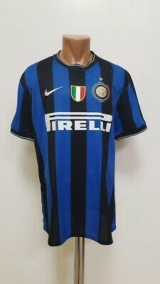 Inter Milan 2009/2010 Player Issue Signed Football Shirt Jersey Nike Size Xl