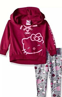 89aa93adb NEW Baby Girls 2 piece Set Size 12 Month Hello Kitty Shirt Top Leggings  Outfit