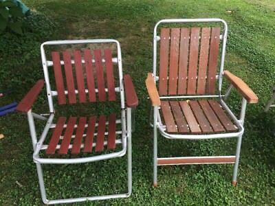 Outstanding Local Pickup Vintage Folding Wooden Lawn Chairs Red Camping Gmtry Best Dining Table And Chair Ideas Images Gmtryco