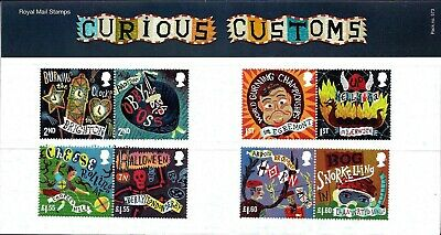 Gb 2019 Mint Curious Customs Presentation Pack 573 And Mint Stamps