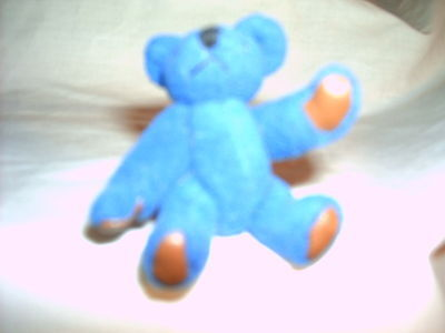 Collectibles - Bear - Blue Mini - Handmade - Head-4 Legs Move - Vintage 1960s