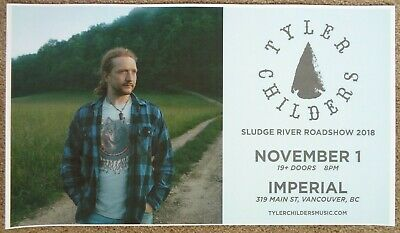 TYLER CHILDERS 2018 Gig POSTER Vancouver Canada Concert