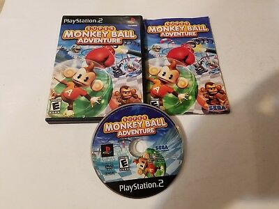 Super Monkey Ball Adventure Complete CIB PS2 Game (Sony PlayStation 2, 2006)