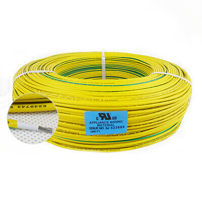 Flexible Stranded of UL1617 Yellow & Green AWG Ground Wire Cable Line Airline