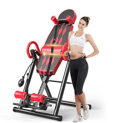 Premium Inversion Table Pro Fitness Chiropractic Exercise Back Reflexology Pad