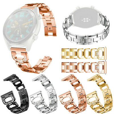 Replacement Metal Crystal Watch Strap Wristbands Wrist Band For Huawei Watch GT
