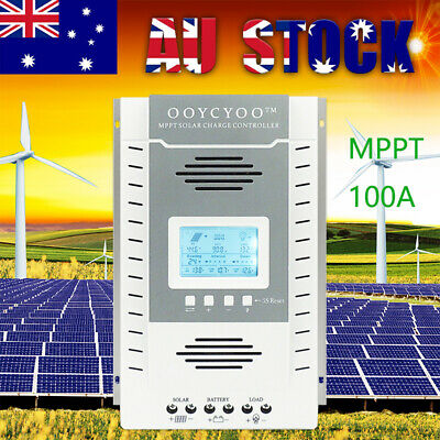 30A 40A 60A 80A 100A MPPT Solar Charge Controller Regulator 12/24V Auto PV100V