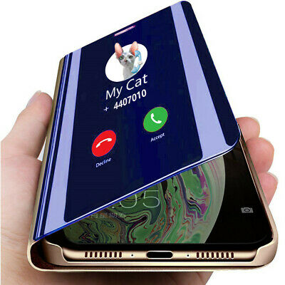 Mirror Flip Cover Clear View Case For Samsung Galaxy S8 S9 Plus Note 8 Note 9