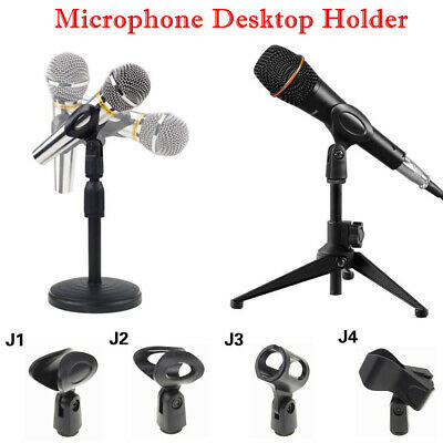 Foldable Desk Boom Mic Stand Microphone Clip Holder Tripod & Round Base Rack WT