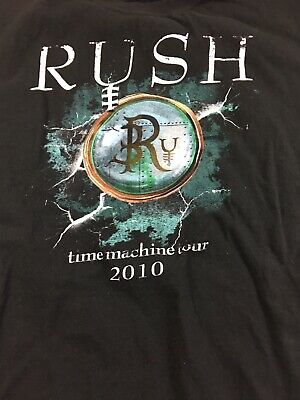 RUSH 2010 Time Machine Tour Shirt Adult large Official Print