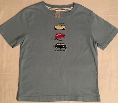 JANIE AND JACK / Toddler Boy Tee SHIRT, Blue with Car Appliqué / Size 2T / EUC