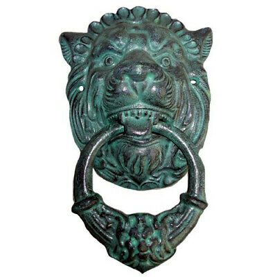 Lion Cast Iron Door Knocker Antique Style Large