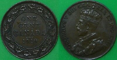 1919 Canada Large Penny Graded as Very Fine