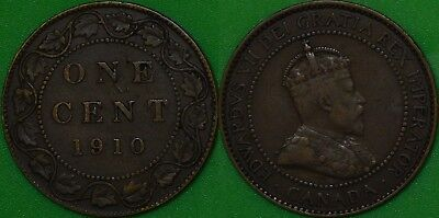 1910 Canada Large Penny Graded as Very Fine