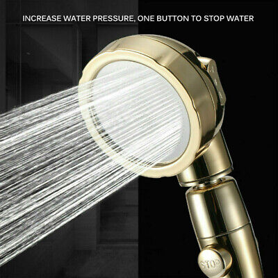 Adjustable High Pressure Handheld Showerhead Detachable ON/OFF Switch 3 Modes