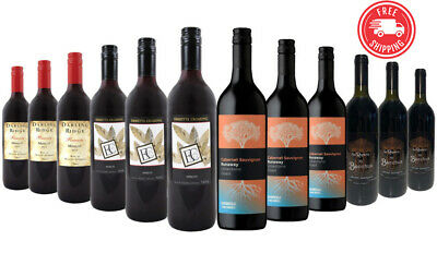 $89 Delivered Tempting Merlot & Cabernet Red Wine Mixed 12x750ml RRP$229