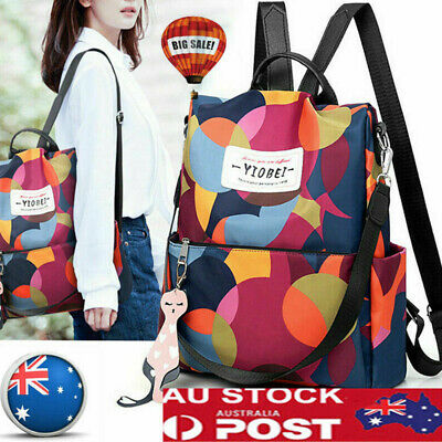 Women's Anti-Theft Backpack Oxford Waterproof School Hand Travel Shoulder Bags