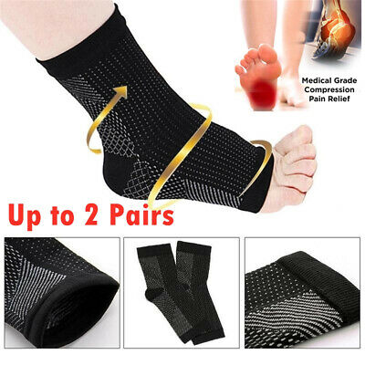 Foot Sleeve Plantar Facilities Compression Socks Sore Achy Heel Ankle Support AU