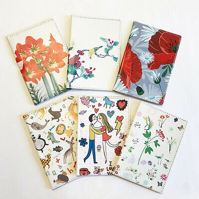Flowers Birds Plastic Passport Cover Travel ID Holder Wallet Card Ticket Pouch