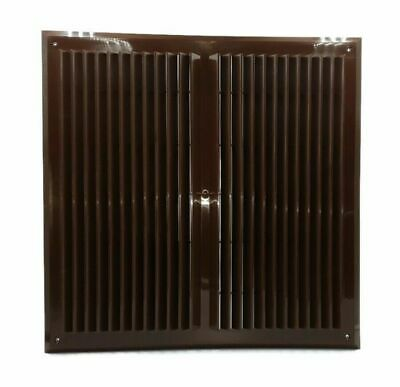 Brown Air Vent Grille 450mm x 450mm with Fly Screen M168BR