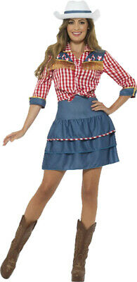 Women's Cowgirl Wild West Western Fancy Dress Party Sexy Rodeo Doll Costume