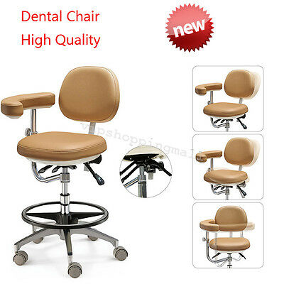 Adjustable Dental Chair Soft PU Leather Doctor's Stool for Dentist Comfortable