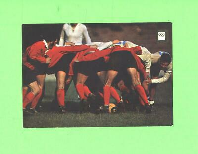 F Postcard Rugby Game Players Olympic Sport Post Card
