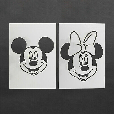 Minnie Mickey Mouse Stencil MYLAR Sheet 190 Micron Reusable Plastic Craft