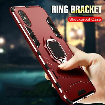 Armor Ring Case For iPhone 11 Pro MAX XR XS 6/7/8 Plus Shockproof Magnetic Cover